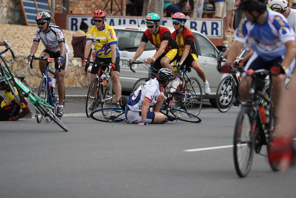 Sturz bei Radrennen