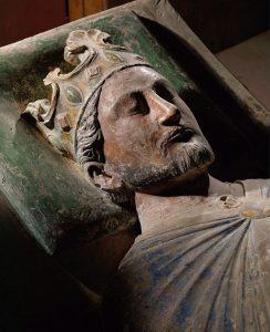 Grabfigur Richards I. Löwenherz in der Abtei Fontevraud (um 1200). Bildnachweis: akg-images/Erich Lessing