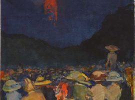 Feuerwerk, Aquarell von Ernst Oppler, 1911