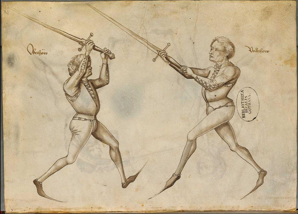 Abbildung aus dem Fechtbuch von Hans Talhoffer, 1467
