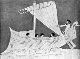 Darstellung einer griechischen Galeere