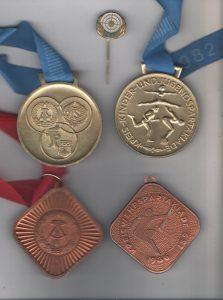 GST-Medaillen und Anstecknadel