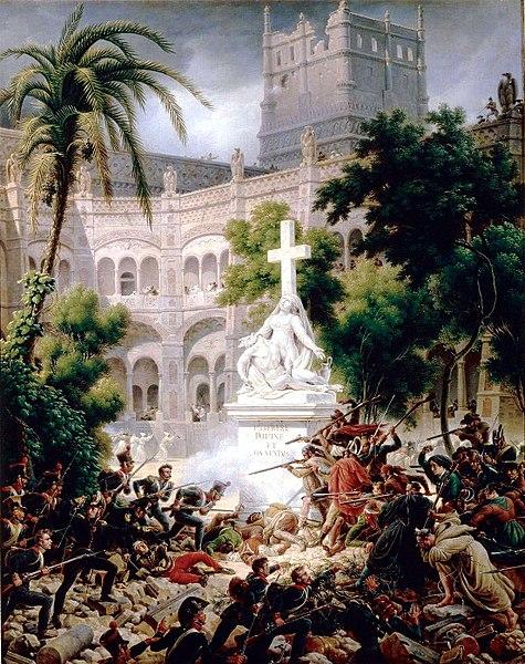 Belagerung des Klosters Santa Engracia, Saragossa, 8. Februar 1809 (Gemälde von Louis-François Lejeune)