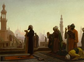 Gebet in Kairo - Gemände von Jean-Léon Gérôme