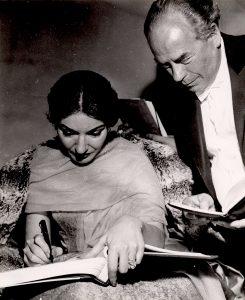 Die weltberühmte Opernsängerin Maria arbeitete mit dem Orchester zusammen (c) NDR