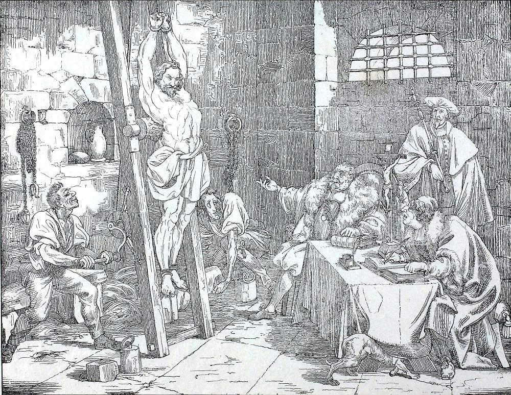 """Die Redewendung """"Auf die Folter spannen"""" stammt aus der Zeit des Mittelalters als Folter alltäglich war."""
